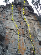 Rock Climbing Photo: Lost in a Lost World (right side) Salami Mami (lef...