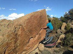 Rock Climbing Photo: Kody working the second half of Underbelly World.
