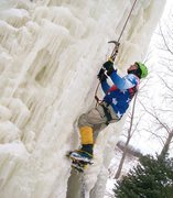 Rock Climbing Photo: steep ice yet