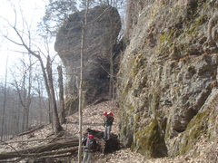 Rock Climbing Photo: Just getting back into the park 3/30/14 and overco...