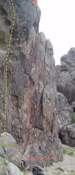 Fairway Crag, Creepy Hollow 11b