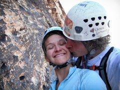 "Rock Climbing Photo: I ""heart"" crack (and boobies)"