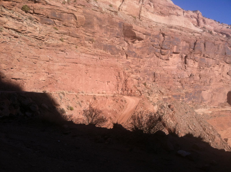Starting down the Schaeffer Trail.