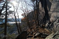 """Rock Climbing Photo: CCC trail at """"The Flatiron"""", and the fro..."""