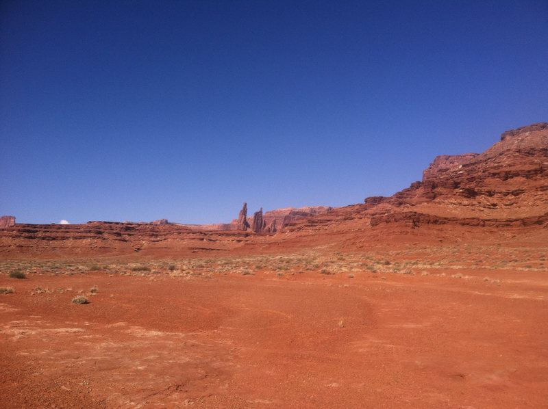 Driving on the White Rim.