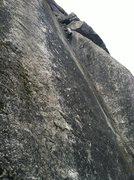 Rock Climbing Photo: Audrey Crushing Pitch 2