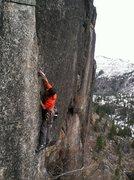 Rock Climbing Photo: Nick Onsighting Pitch 3