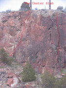 Rock Climbing Photo: The Center Slab abounds with sharp face holds.