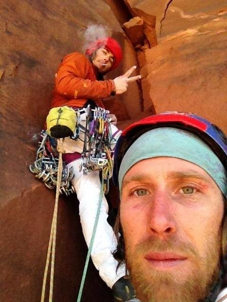 Rock Climbing Photo: me an the man him self Big Jon on top of pitch 2 ....