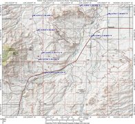 Rock Climbing Photo: Map of Squaw Rock and the Coonery Hills with GPS w...