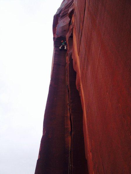 Rock Climbing Photo: Max Rodatz on lead