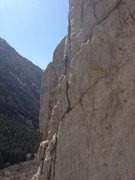 Rock Climbing Photo: Trying to survive the very tricky crux