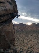 Rock Climbing Photo: Cathryn Henning pulling through the roof on Mighty...