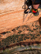 Rock Climbing Photo: Clean and steep wall! P6 belay, Spaceshot.