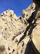 Rock Climbing Photo: Little Squaretop can be seen as the little nub sti...