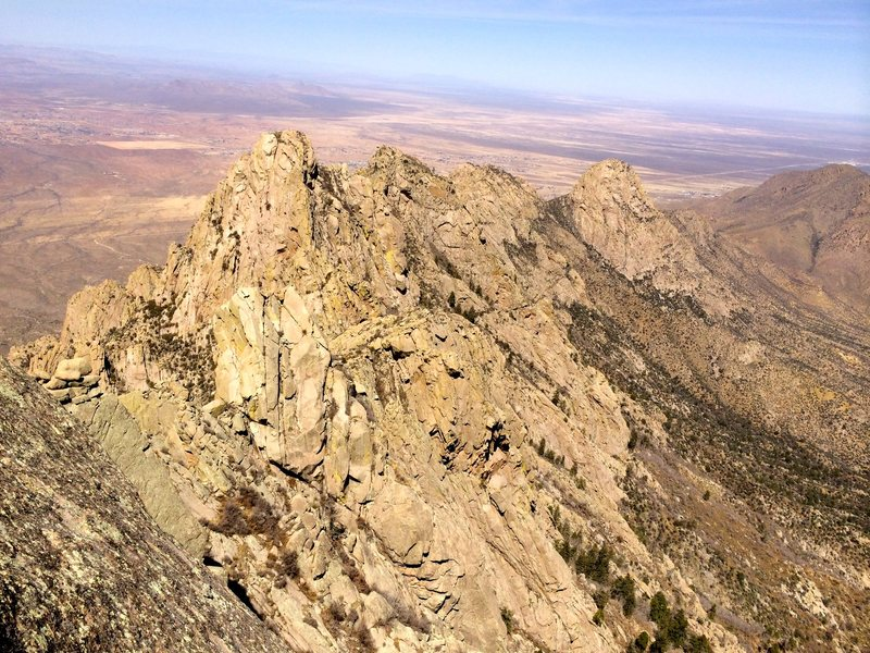Rock Climbing Photo: View of the Wedge (tallest) from Little Squaretop ...