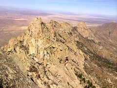 View of the Wedge (tallest) from Little Squaretop summit.
