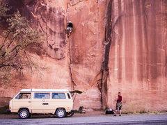 Rock Climbing Photo: Potash approach