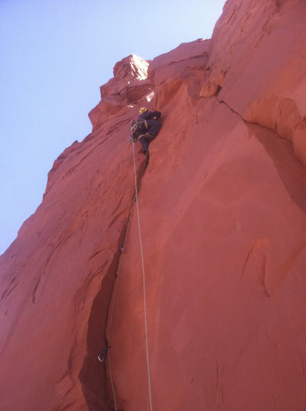 3rd pitch on the North Ridge of Monster Tower.