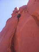 Rock Climbing Photo: 3rd pitch on the North Ridge of Monster Tower.