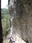 Rock Climbing Photo: Fanny getting ready to attempt Fair Value. Also ev...