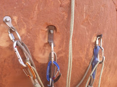 Rock Climbing Photo: Belay at top of 2nd pitch.