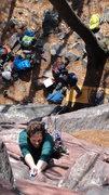 Rock Climbing Photo: Jim on Dippy