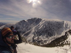 Rock Climbing Photo: Looking into tuckermine's ravine. Mt. Washington, ...