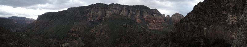 Rock Climbing Photo: The Left wall and Oak Creek Canyon!