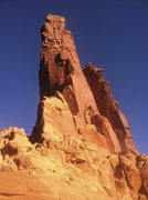 Rock Climbing Photo: Monster Tower's North Ridge, viewed from the base ...