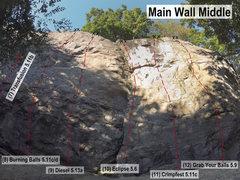 Rock Climbing Photo: Main Wall Middle II