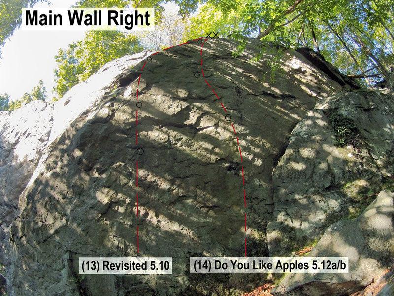 Rock Climbing Photo: Main Wall Right