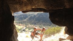 Rock Climbing Photo: Transcending into The Central Cave!