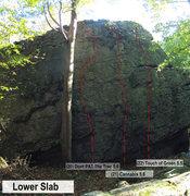 Rock Climbing Photo: Lower Slab