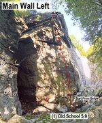 Rock Climbing Photo: Main Wall Left