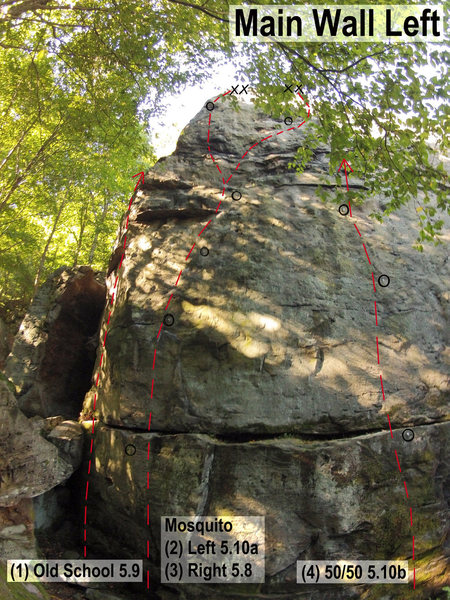 Rock Climbing Photo: Main Wall Left II
