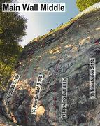 Rock Climbing Photo: Main Wall Middle