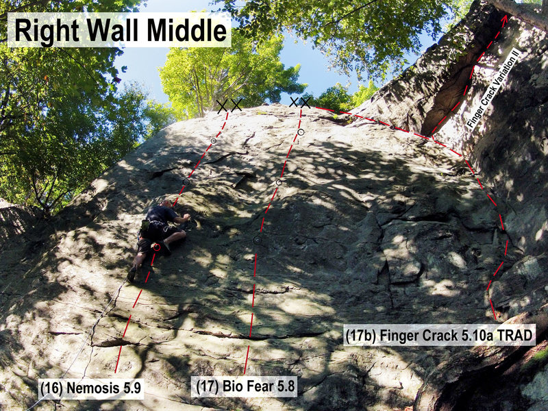 Rock Climbing Photo: Right Wall Middle