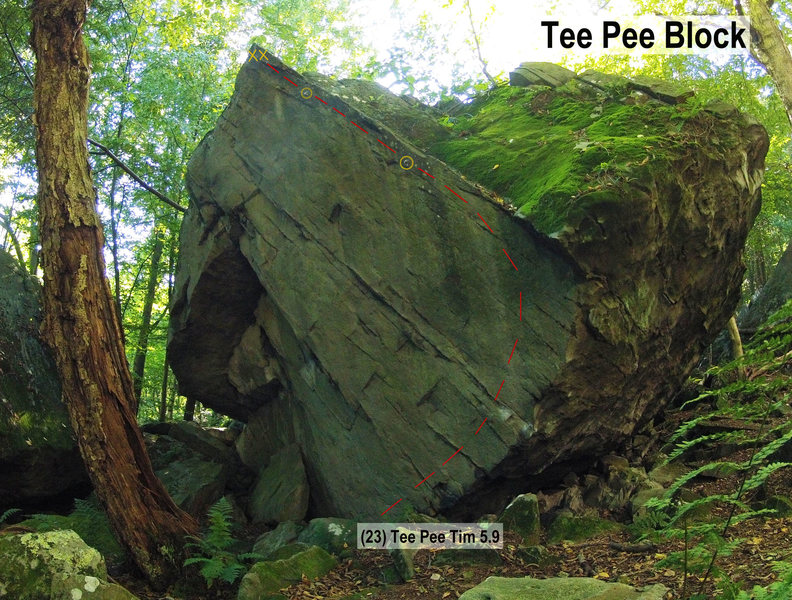Rock Climbing Photo: Tee Pee Block
