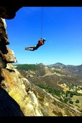 Rock Climbing Photo: Main Wall Rope Swing!!!