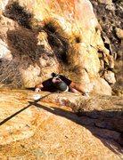 Rock Climbing Photo: Andrew cranking the final moves on Tatanka!