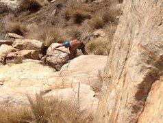 Rock Climbing Photo: Looking down at the start of Tatanka.