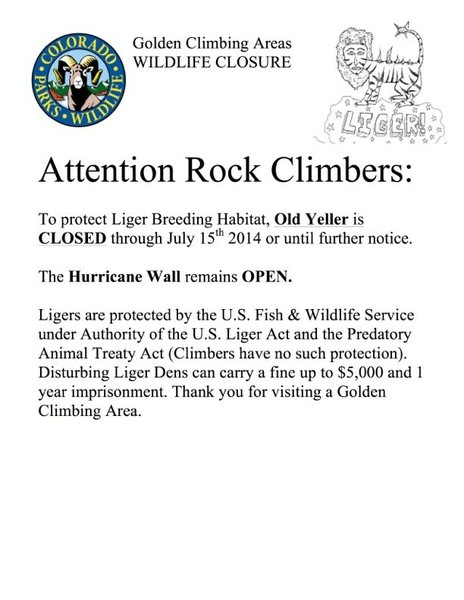 Rock Climbing Photo: Liger Closures