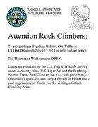 Rock Climbing Photo: Liger Closures