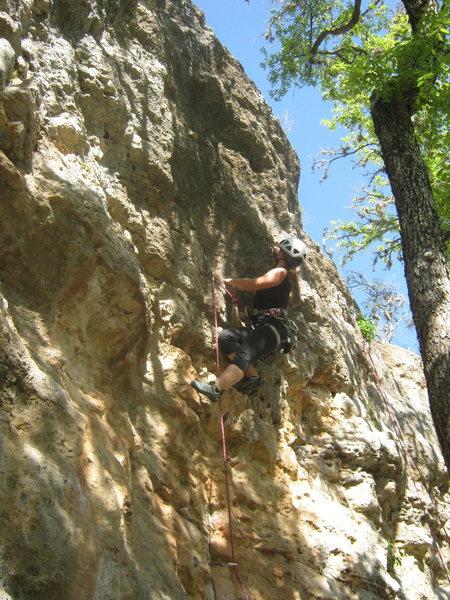 Rock Climbing Photo: Melissa leading Monkey Boy 10c. The route overhang...