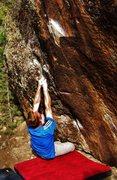 Rock Climbing Photo: Start beta of Veiled Citizen.