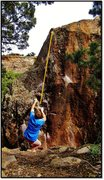 Rock Climbing Photo: Working the early moves. Veiled Citizen problem be...