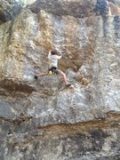 Rock Climbing Photo: Evan Johnson leading Use the Force Luke