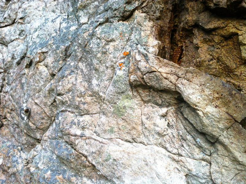 Rock Climbing Photo: Beehive at 4th bolt.  Dormant in the winter months...