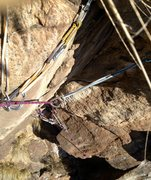 Rock Climbing Photo: Looking down the starting corner of Conception, th...